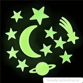 Glow In The Dark Stars & Moon Space Decorations